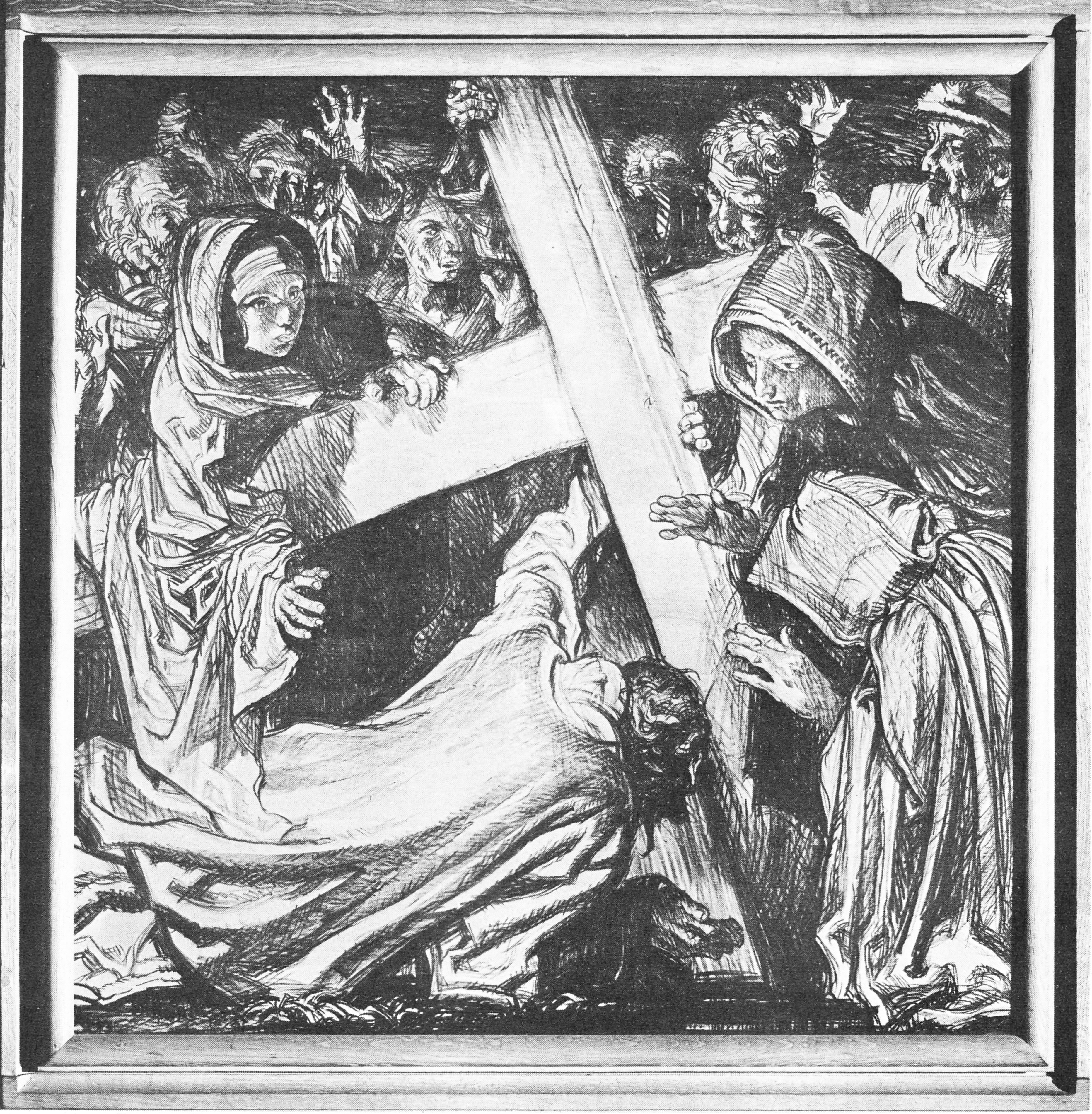9th Station: Jesus Falls the Third Time. Click the pin for a ...
